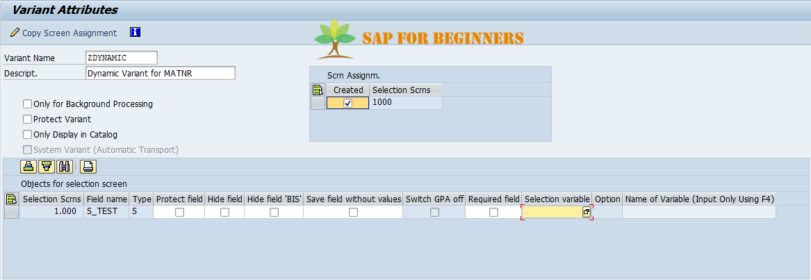 How to Create a Dynamic Variant in SAP using TVARV Table - SAP for